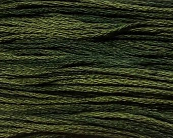 Weeks Dye Works, Collards, WDW-1277, 5 YARD Skein, Hand Dyed Cotton, Embroidery Floss, Counted Cross Stitch, Hand Embroidery, PunchNeedle