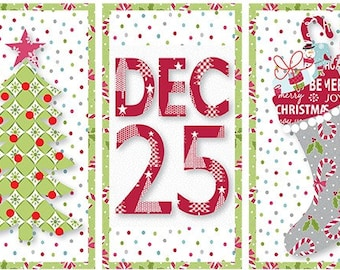 Quilt Pattern, Christmas Day Minis, Mini Quilts, Christmas Decor, Christmas Quilt, Cherry Guidry, Cherry Blossoms Quilts, PATTERN ONLY