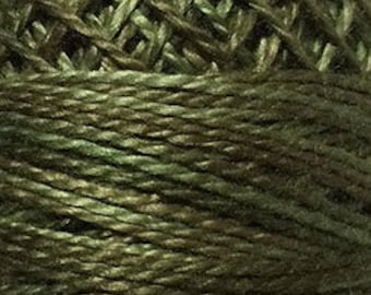 Valdani Thread, Size 8,  O1901, Lichen Moss, Perle Cotton, Punch Needle, Embroidery, Penny Rugs, Primitive Stitching, Sewing Accessory