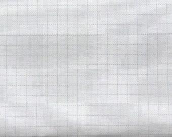 25 Count Lugana, Easy Count Grid, White, Lugana 25, Zweigart, Counted Cross Stitch, Cross Stitch Fabric, Embroidery Fabric, Evenweave Fabric