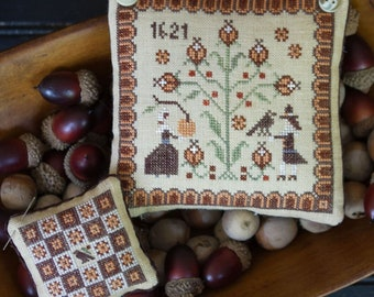 Cross Stitch Pattern, Goodness and Thanks, Fall Decor, Autumn Decor, Thanksgiving, Crow, Plum Street Samplers, PATTERN ONLY