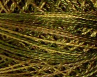 Valdani Thread, Size 8, P2, Valdani Perle Cotton, Olive Green, Punch Needle, Embroidery, Penny Rugs, Primitive Stitching, Sewing Accessory