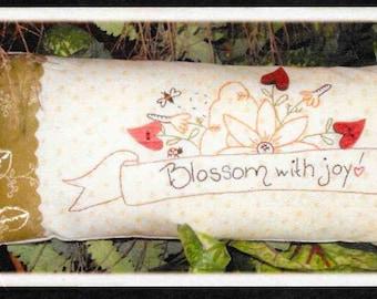 Stitchery Pattern, Garden Wisdom, Embroidery Pattern, Stitched Pillow, Embroidered Pin Cushion, Garden Decor, Plumcute Designs, PATTERN ONLY