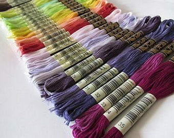 35 NEW COLORS, DMC Floss, 01 - 35, Embroidery Floss,  Add'l Colors See Link in Description, Punch Needle, Penny Rugs, Sewing Accessory