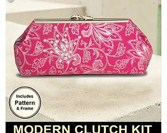 Sewing Patterns, Modern Clutch, Swarovski Crystals, Wallet, Accessory, Clutch, Cell Phone, Purse, Pink Sand Beach, PATTERN & KIT ONLY