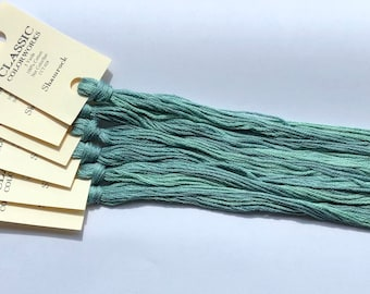 Classic Colorworks, Shamrock, CCT-028, 5 YARD Skein, Hand Dyed Cotton, Embroidery Floss, Counted Cross Stitch, Embroidery Thread
