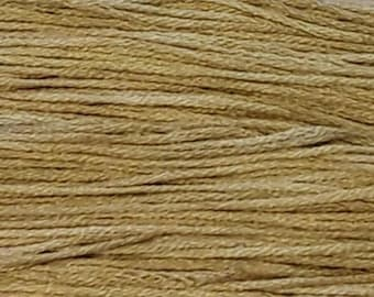 Weeks Dye Works, Beige, WDW-1106, 5 YARD Skein, Hand Dyed Cotton, Embroidery Floss, Counted Cross Stitch, Hand Embroidery, Over Dyed Cotton