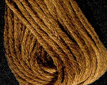 Valdani, 6 Strand Cotton Floss, 853, Antique Gold Dark, Embroidery Floss, Variegated Floss, Hand Dyed Floss, Wool Applique, Punch Needle
