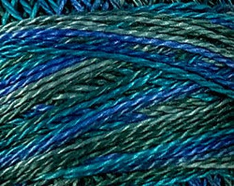 Valdani Thread, Size 8, M30, Perle Cotton, Deep Waters, Punch Needle, Embroidery, Penny Rugs, Primitive Stitching, Sewing Accessory