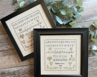 Counted Cross Stitch Pattern, Matilda Rowe 1843, Reproduction Sampler, Reproduction, From the Heart Needleart, PATTERN ONLY