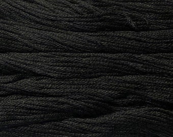 Gentle Art, Simply Shaker Threads, Black Licorice, #7098, 10 YARD Skein, Embroidery Floss, Counted Cross Stitch, Hand Embroidery Thread