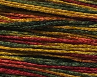 Weeks Dye Works, Noel, WDW-4105, 5 YARD Skein, Hand Dyed Cotton, Embroidery Floss, Cross Stitch, Hand Embroidery, Punch Needle