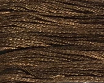 Weeks Dye Works, Palomino, WDW-1232, 5 YARD Skein, Hand Dyed Cotton, Embroidery Floss, Counted Cross Stitch, Embroidery, Over Dyed Cotton