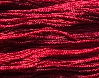 Gentle Art, Sampler Threads, Claret, #0310, 10 YARD Skein, Embroidery Floss, Counted Cross Stitch, Hand Embroidery Thread