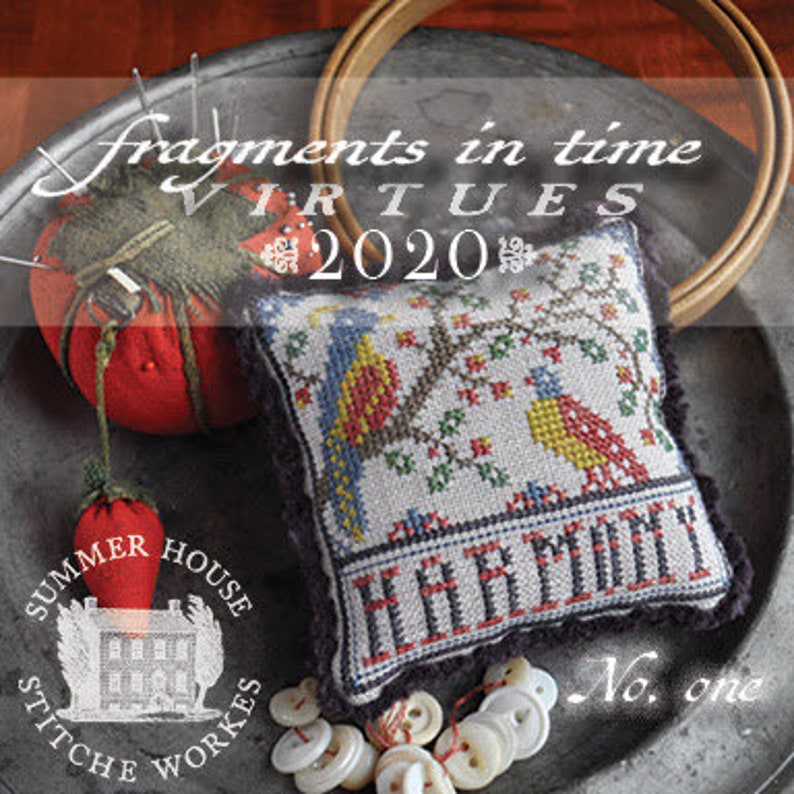 Counted Cross Stitch Fragments in Time 2020 No 1 Harmony image 0