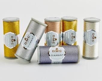 DMC Diamant Grande, Metallic Thread, Metallic Thread, Embroidery Thread, Cross Stitch, Hand Embroidery Thread, DMC Metallic Thread, Metallic