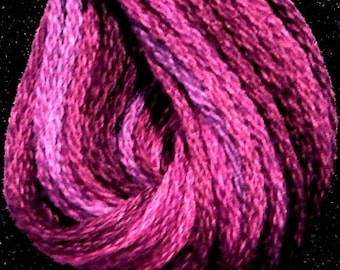 Valdani, 6 Strand Cotton Floss, V3, Fuchsia Love, Embroidery Floss, Punch Needle, Embroidery, Penny Rugs, Sewing Accessory
