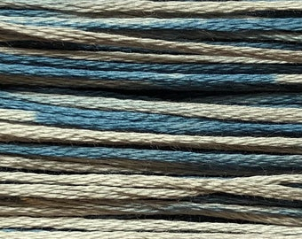 Weeks Dye Works, Salt Glaze, WDW-1286, 5 YARD Skein, Cotton Floss, Embroidery Floss, Counted Cross Stitch, Hand Embroidery, PunchNeedle