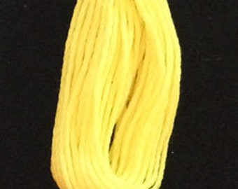 Valdani, 6 Strand Cotton Floss, 1308, Easter Yellow, Embroidery Floss, Punch Needle, Embroidery, Penny Rugs, Sewing Accessory