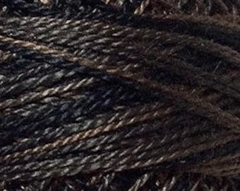 Valdani Thread, Size 12, O501, Perle Cotton, Ebony Almond, Punch Needle, Embroidery, Penny Rugs, Punchneedle, Hardanger, Sewing Accessory
