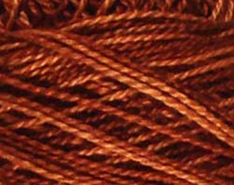 Valdani Thread, Size 8, H201, Valdani Perle Cotton, Rust,  Punch Needle, Embroidery, Penny Rugs, Primitive Stitching, Sewing Accessory