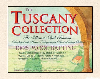 Wool Batting, Hobbs Tuscany Collection, Throw Quilt, Lap Quilt, Quilt Batting, Washable Wool, Superwashed Wool, 100% Wool Batting,
