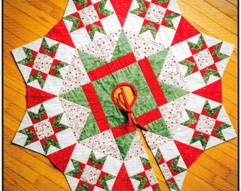 Quilt Pattern, The Night Before Christmas, Christmas Tree Skirt, Christmas Decor, Stars, Patchwork Quilt, The Quilt Branch, PATTERN ONLY