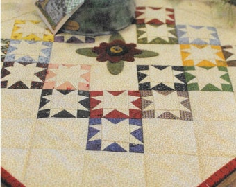 Quilt Pattern, Tiny Dancer, Scrap Quilt, Wall Hanging, Table Mat, Quilted Centerpiece, Primitive Gatherings, Lisa Bongean, PATTERN ONLY