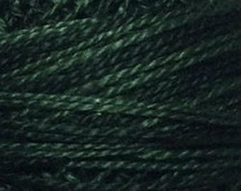 Valdani Thread, Size 8, O41, Valdani Perle Cotton, Deep Forest Greens, Punch Needle, Embroidery, Penny Rugs, Hardanger, Wool Applique,
