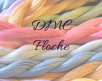 DMC Floche, Cotton Floche, Embroidery Floche, Embroidery Thread, Cross Stitch, Hand Embroidery Thread, DMC Metallic Thread, Metallic