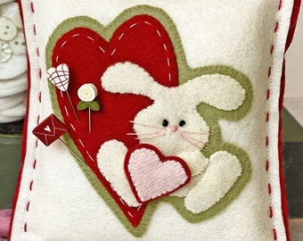 Pin Lovers, Somebunny Loves You, Valentine Pin Mini, Heart Pin, Love Letter Pin, Rose Pin, Bunny, Heart, Just Another Button Company
