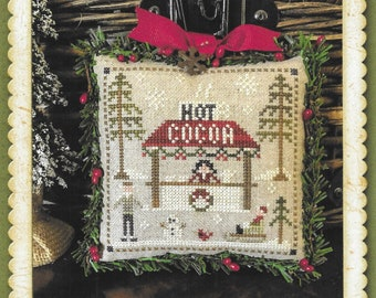 Counted Cross Stitch Pattern, Hot Cocoa, Jack Frost's Tree Farm, Christmas Tree Farm, Christmas, Little House Needleworks, PATTERN ONLY