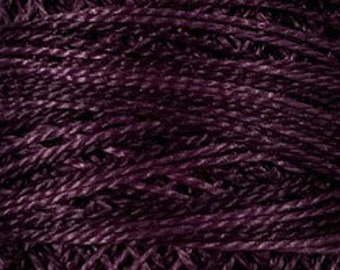 Valdani Thread, Size 8, O86, Ripened Plum, Perle Cotton, Punch Needle, Embroidery, Penny Rugs, Primitive Stitching, Sewing Accessory