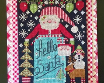 Cross Stitch Pattern, Hello Santa, Christmas Decor, Santa Claus, Reindeer, Christmas Tree, Stitching with the Housewives, PATTERN ONLY