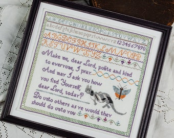 Counted Cross Stitch Pattern, Do Unto Others, Sampler, Inspirational, Cottage Chic, Shabby Cottage, Erica Michaels, PATTERN ONLY
