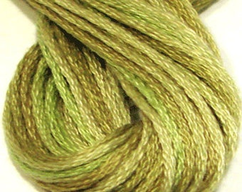 Valdani, 6 Strand Cotton Floss, O559, Watery Weed, Embroidery Floss , Punch Needle, Embroidery, Penny Rugs, Sewing Accessory