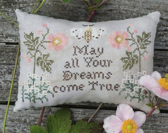 Counted Cross Stitch Pattern, My Wish For You, Friendship, Garden Decor, Beth Twist, Heartstring Samplery, PATTERN ONLY