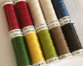 Sulky, Patriotic Collective, Sulky Petites, 12 wt Cotton, Cotton Thread, Egyptian Cotton Thread, Embroidery Thread, Cross Stitch, Decorative