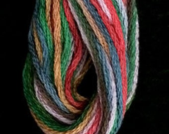 Valdani, 6 Strand Cotton Floss, M35, Gem Symphony, Embroidery Floss, Variegated Floss, Hand Dyed Floss, Wool Applique, Punch Needle