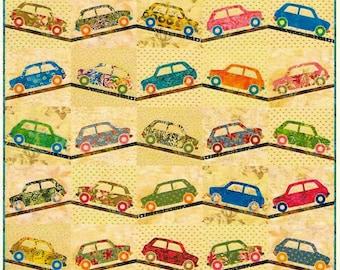 Quilt Pattern, Sweet Ride, Lap Quilt, Boy Quilt, Car Applique, Applique Quilt, Wallhanging, Edyta Sitar, Laundry Basket Quilts, PATTERN ONLY