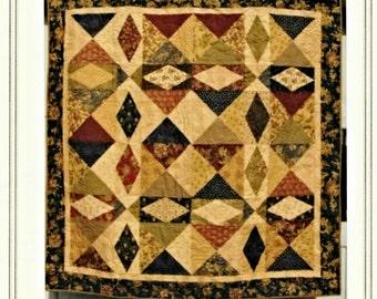 Quilt Pattern, Refraction, Cottage Rose Quilt, Pieced Quilt, Home Decor, Bedroom Quilt, Primitive Decor, Deb Eggers, PATTERN ONLY