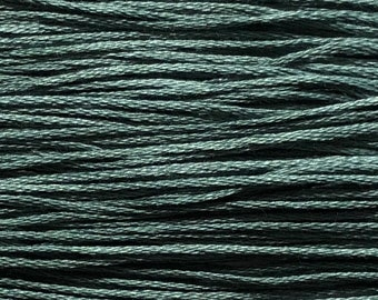Weeks Dye Works, Teal Frost, WDW-3960, 5 YARD Skein, Cotton Floss, Embroidery Floss, Counted Cross Stitch, Hand Embroidery, PunchNeedle