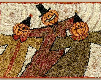 Punch Needle Pattern, Whimsy Ghouls, Scarecrows, Pumpkins, Fall Decor, Halloween Decor, Punch Needle Embroidery, Teresa Kogut, PATTERN ONLY