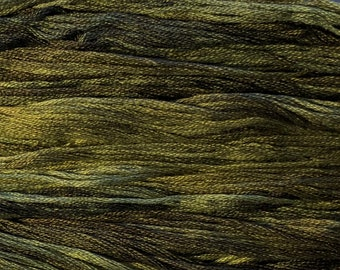 Gentle Art, Sampler Threads, Green Tea Leaf, #0195, 10 YARD Skein, Embroidery Floss, Counted Cross Stitch, Hand Embroidery Thread
