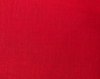 28 ct Linen, Christmas Red, Cross Stitch Linen, Counted Cross Stitch, Cross Stitch Fabric, Embroidery Fabric, Red Linen Fabric, Needlework