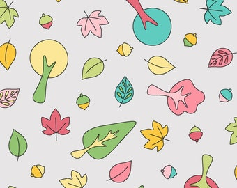 Flannel Fabric, Babe in the Woods, Forest Toss, Cotton Flannel, Quilting Flannel, Baby Flannel, Nursery, Rachel Shelburne, Maywood Studio