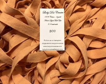 """Twill Tape, Boo, Lady Dot Creates, 3/4"""" Twill Tape, Hand Dyed Twill, Cotton Twill, Sewing Notion, Sewing Accessory, Sewing Trim"""
