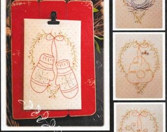 Stitchery Pattern, Sweet Seasons, Embroidery Pattern, Spring, Summer, Fall, Winter Decor, Plumcute Designs, PATTERN ONLY