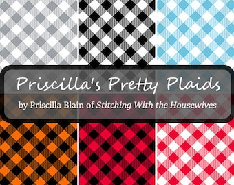 Quilt Fabric, Priscilla's Pretty Plaids, Plaid Fabric, Henry Glass, Stitching with the Housewives, Priscilla Blain