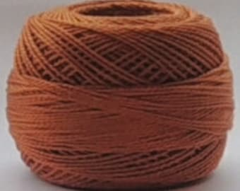 DMC Perle Cotton, Size 8, DMC 434, Pearl Cotton Ball, Light Brown, Embroidery Thread, Punch Needle, Embroidery, Penny Rugs, Sewing Accessory